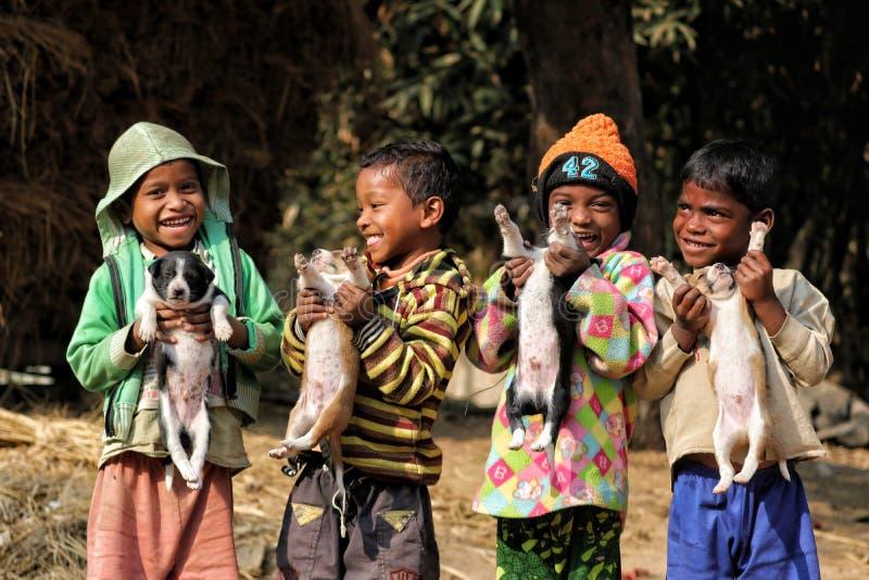 Enfants de village photographie stock libre de droits