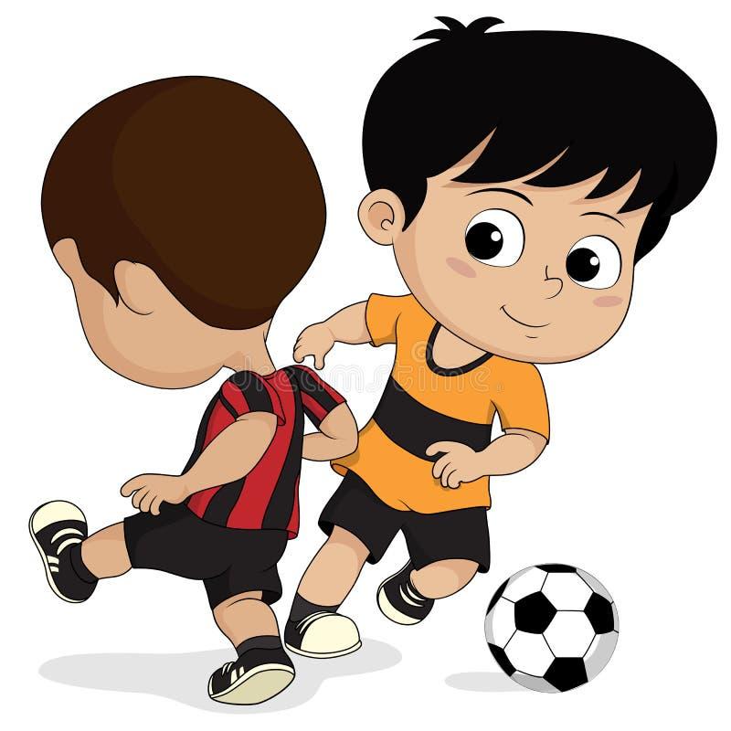 Enfants du football de bande dessinée illustration libre de droits