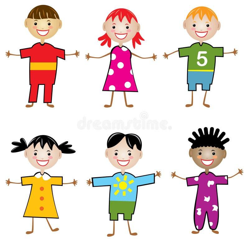 Enfants du monde illustration libre de droits