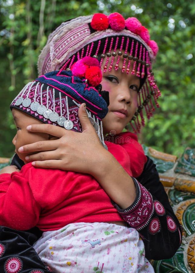 Enfants du nord Thaïlande de Hilltribe photo stock