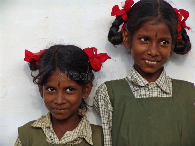 Enfants en Inde du sud images libres de droits