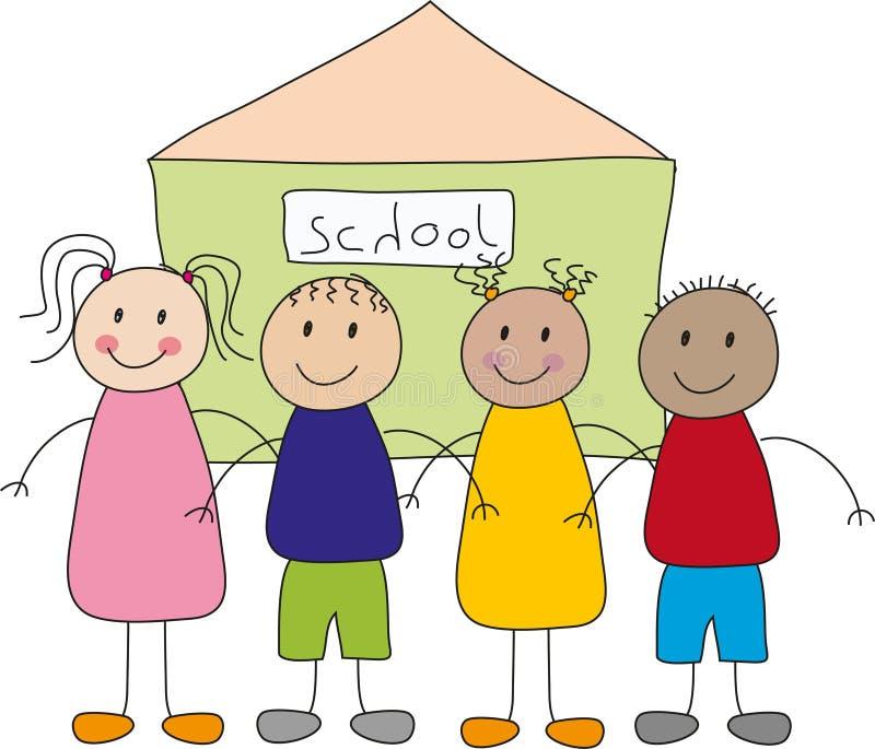 Enfants et école illustration libre de droits