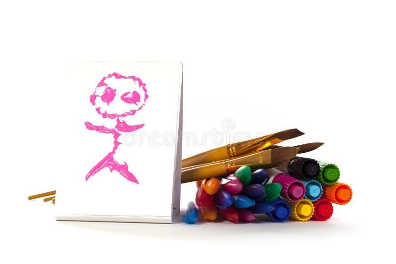 Enfants et art image libre de droits