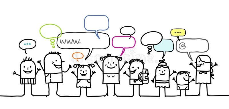 Enfants et réseau social illustration de vecteur