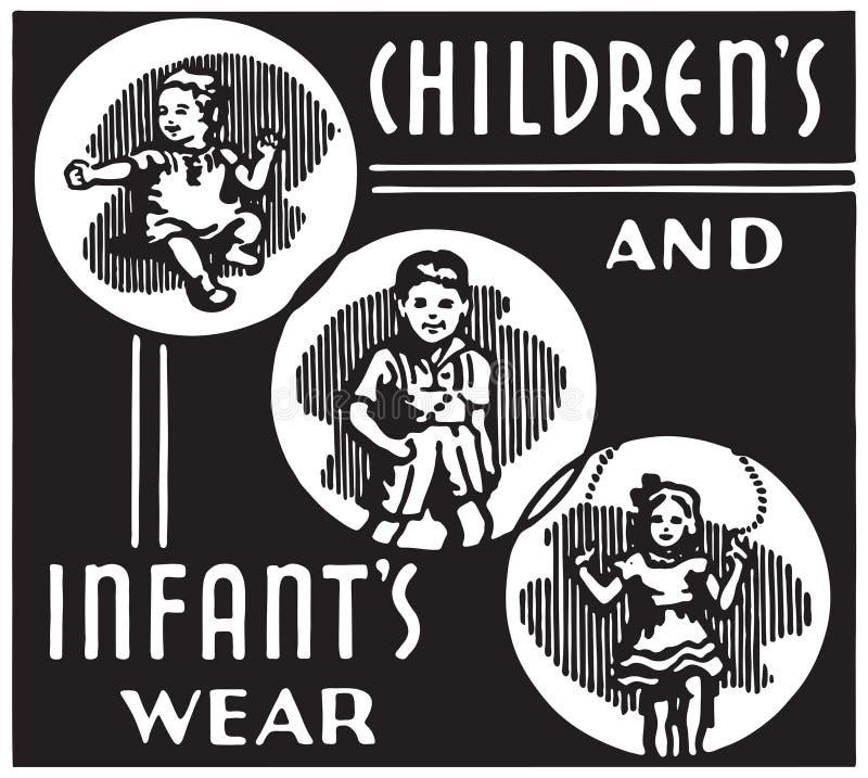 Enfants et usage du nourrisson illustration stock