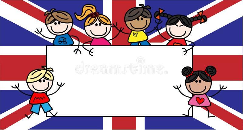 Enfants ethniques mélangés illustration de vecteur