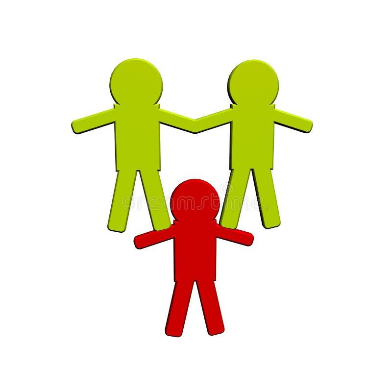 Enfants, figure sur un fond blanc - 1. illustration libre de droits