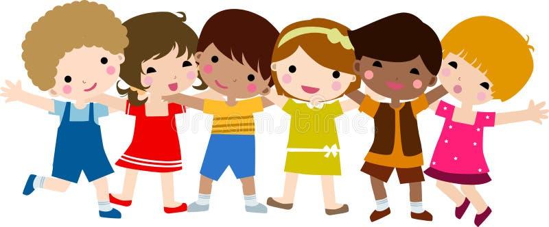 Enfants heureux illustration stock