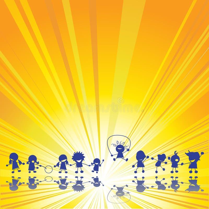Enfants heureux illustration libre de droits