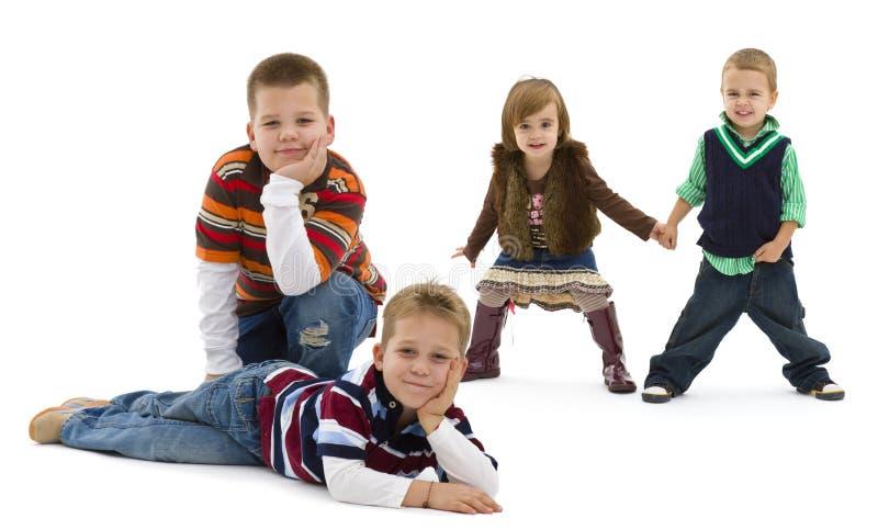 Download Enfants heureux photo stock. Image du enfants, couleur - 8659348