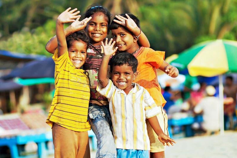 Enfants indiens images libres de droits