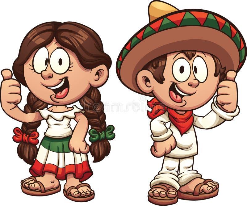 Enfants mexicains illustration de vecteur