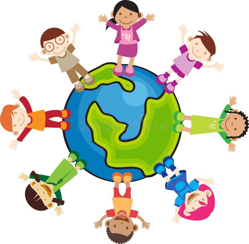 Enfants multi de culture illustration libre de droits