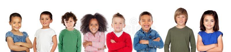 Enfants regardant l'appareil-photo photographie stock libre de droits