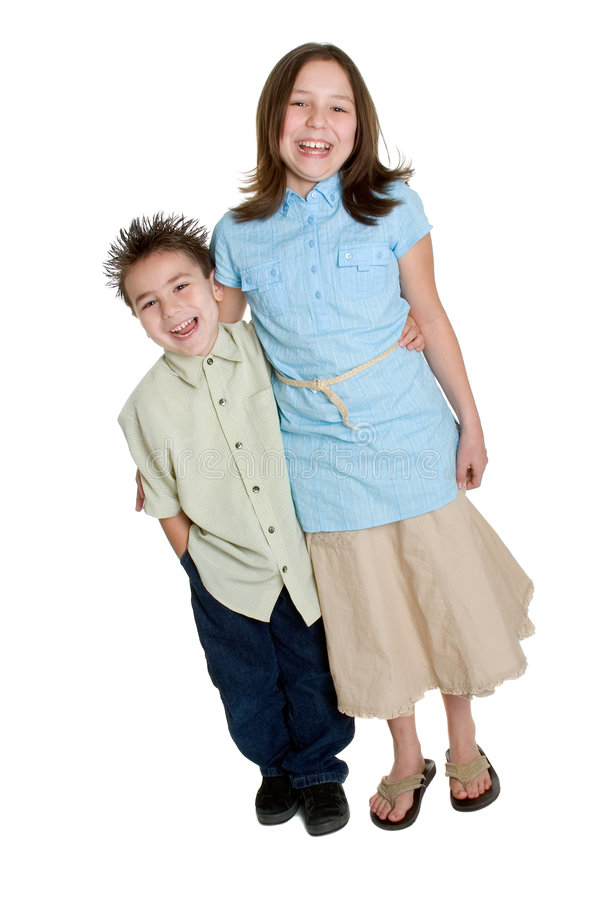 Enfants riants photos stock