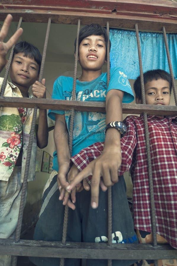 enfants s du Cambodge photographie stock