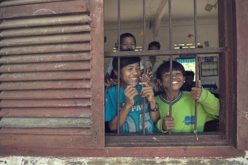 enfants s du Cambodge photos libres de droits