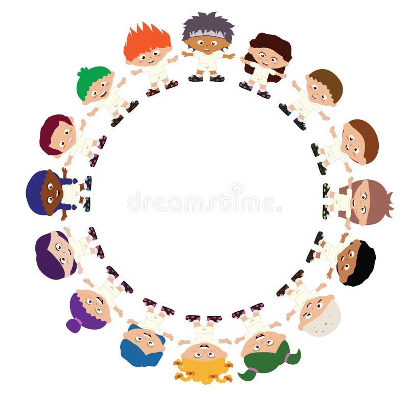 Enfants se tenant en cercle illustration libre de droits