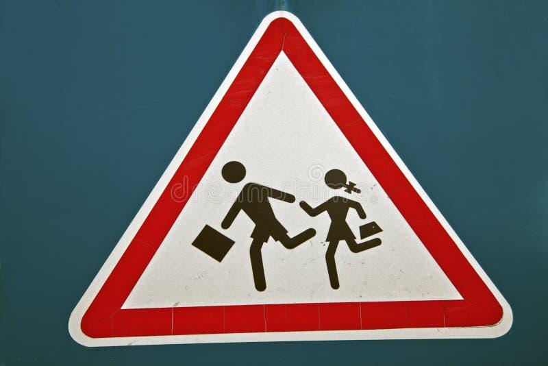 Enfants sur la route images stock