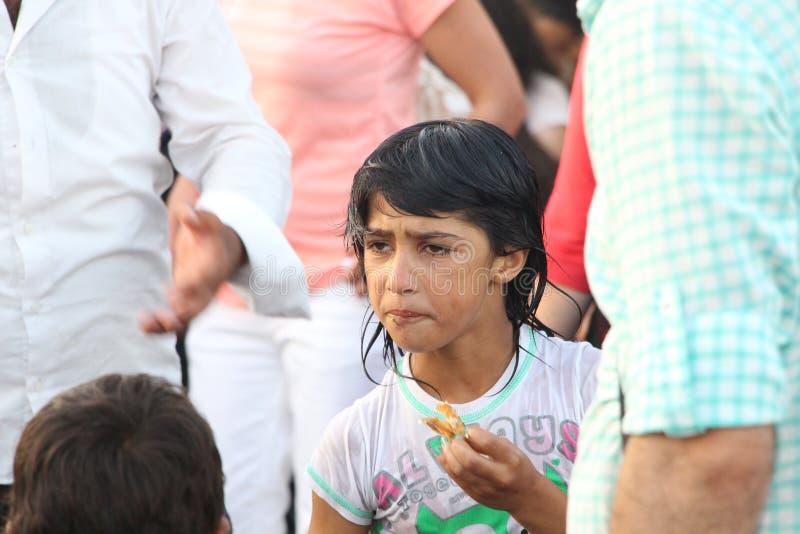 Enfants syriens de réfugié image stock