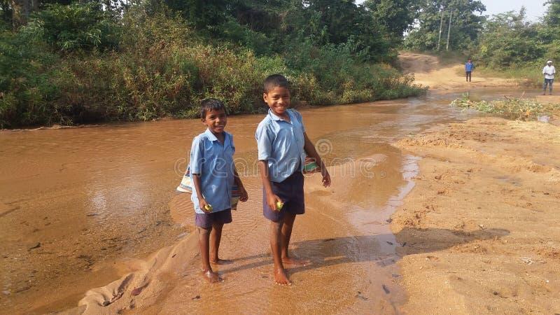 Enfants tribals image libre de droits