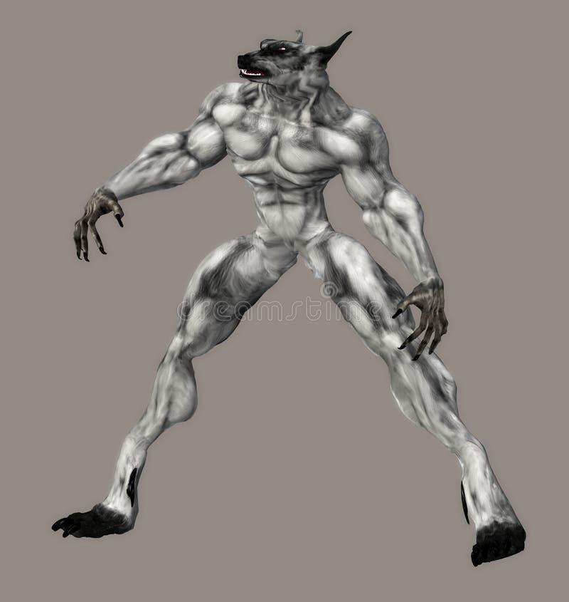 enfer de créature illustration libre de droits