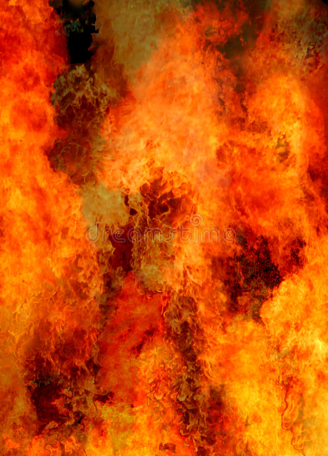 Enfer flamboyant photo libre de droits