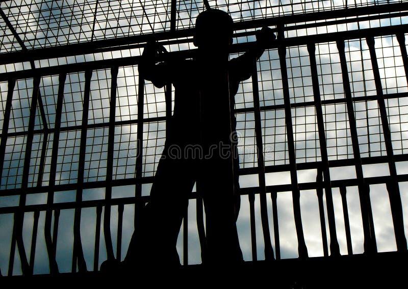 Enfermé image libre de droits