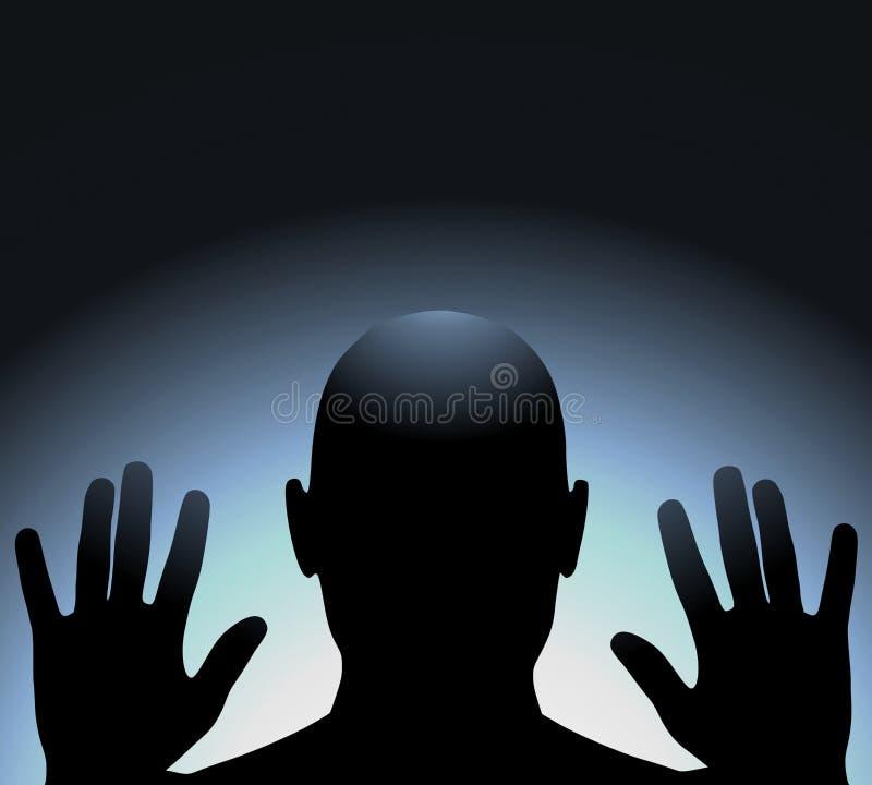 Enfermé dans un cadre en verre illustration libre de droits