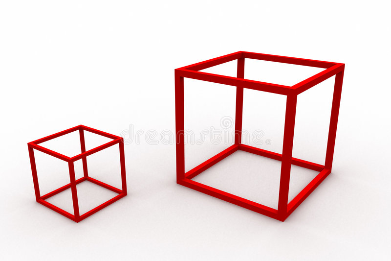 Enfermé dans une boîte illustration de vecteur