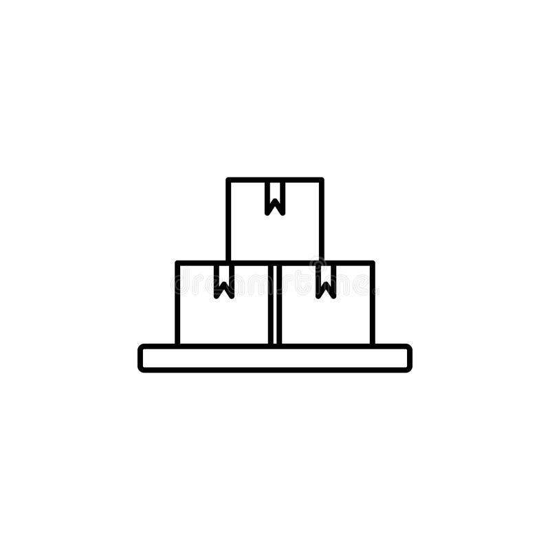 enferme dans une boîte l'icône Élément d'icône de production pour les apps mobiles de concept et de Web La ligne mince icône de b illustration stock