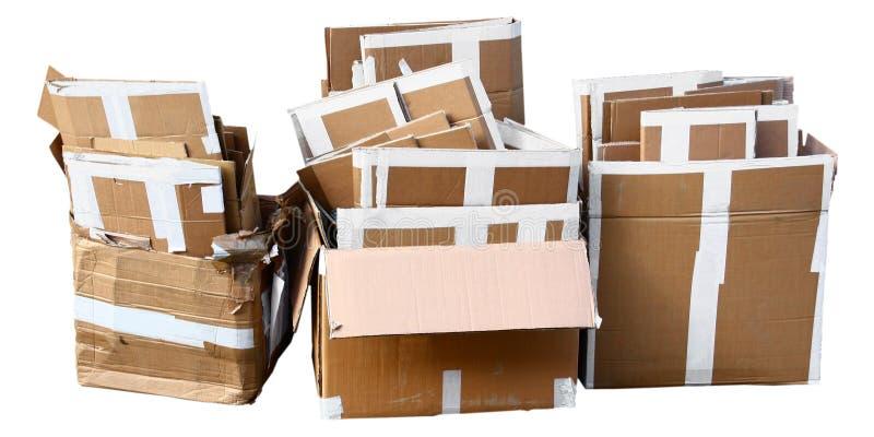 enferme dans une boîte le carton photographie stock libre de droits