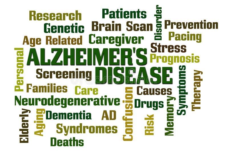Enfermedad de Alzheimers stock de ilustración