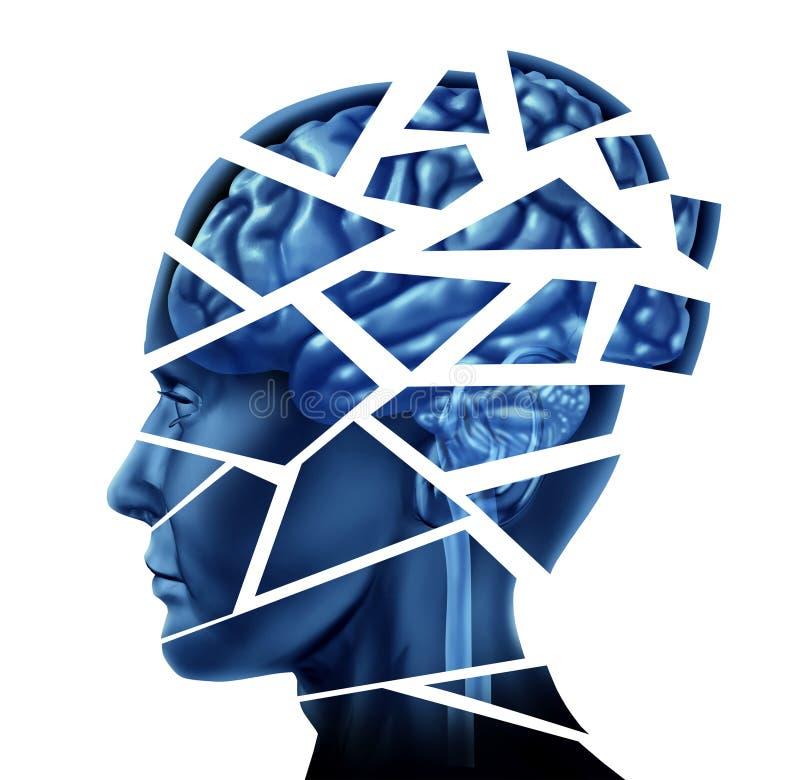 Enfermedad de cerebro stock de ilustración