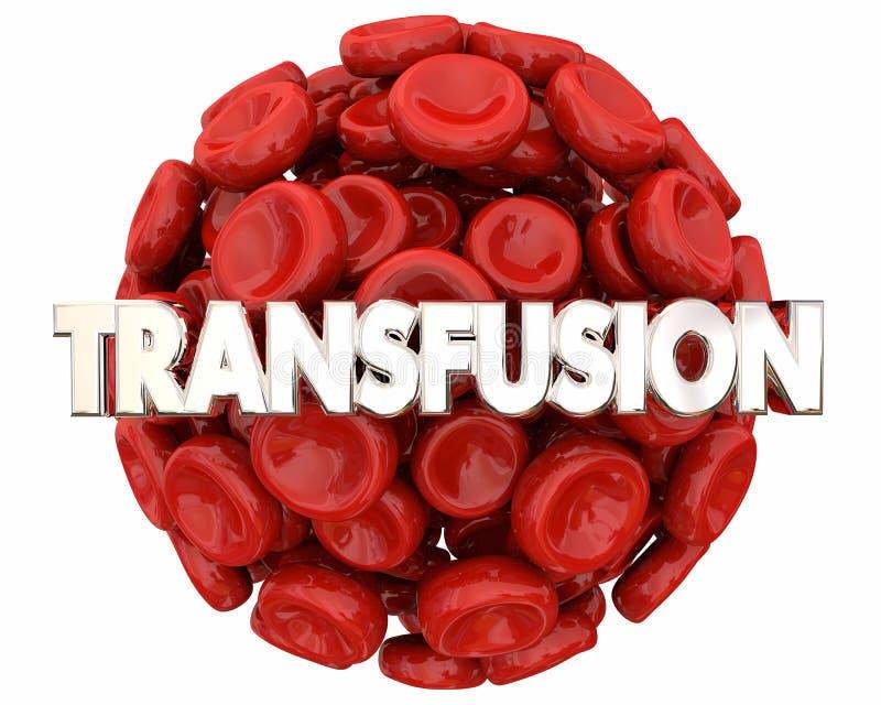 Enfermedad de la atención sanitaria 3d de la vida de la reserva de la esfera de la bola de los glóbulos de la transfusión stock de ilustración