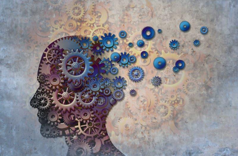 Enfermedad de la pérdida de memoria de Alzheimer stock de ilustración