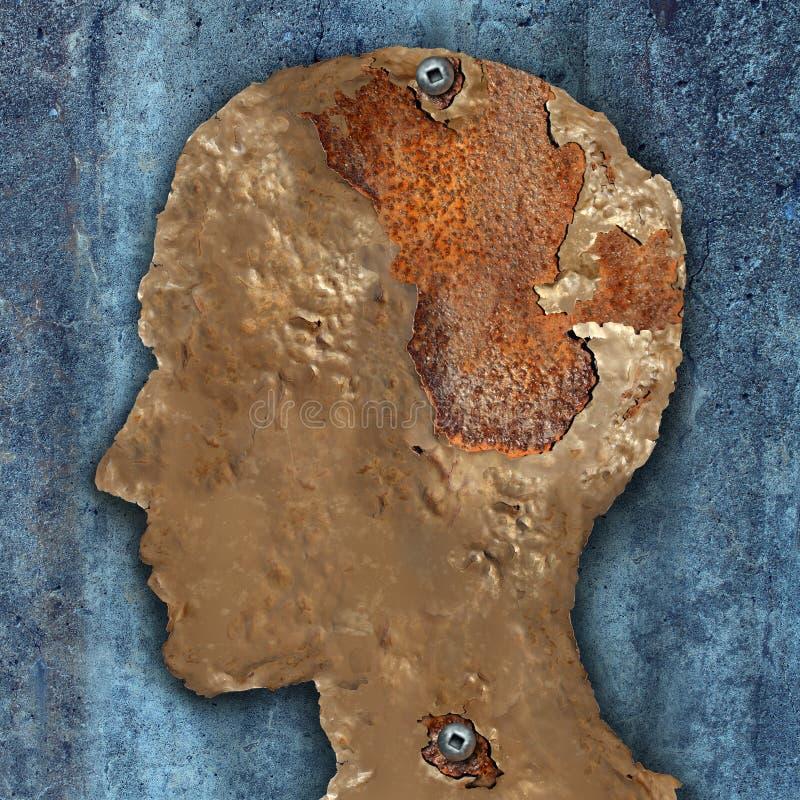 Enfermedad y demencia de cerebro ilustración del vector