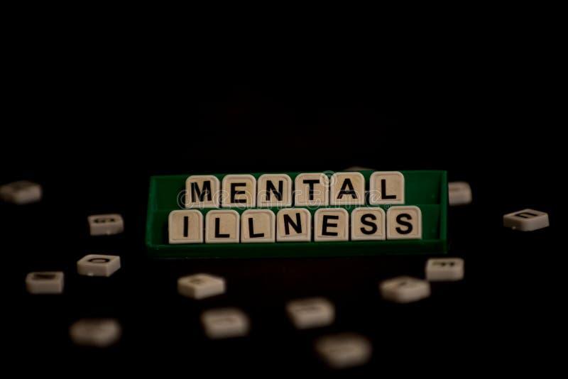 Enfermedades mentales del texto 'en letras mayúsculas fotos de archivo