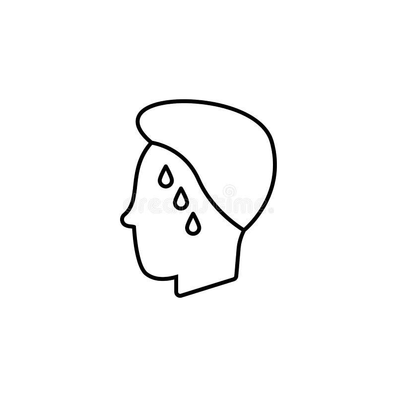 Enfermedades, sangre, cerebro, lesión Dolores del músculo, frío y bronquitis, pulmonía y fiebre, ejemplo médico de la salud - stock de ilustración