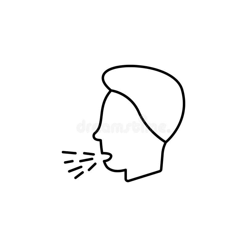 Enfermedades, vector de la tos Dolores del músculo, frío y bronquitis, pulmonía y fiebre, ejemplo médico de la salud - vector ilustración del vector