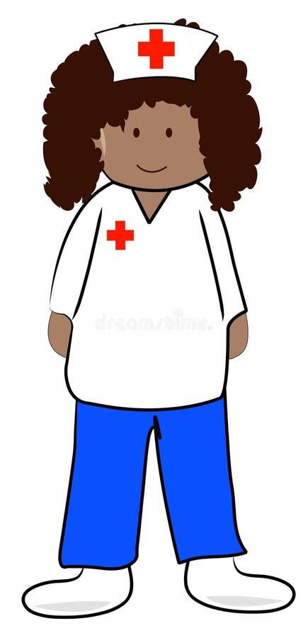 Enfermeira étnica ilustração do vetor