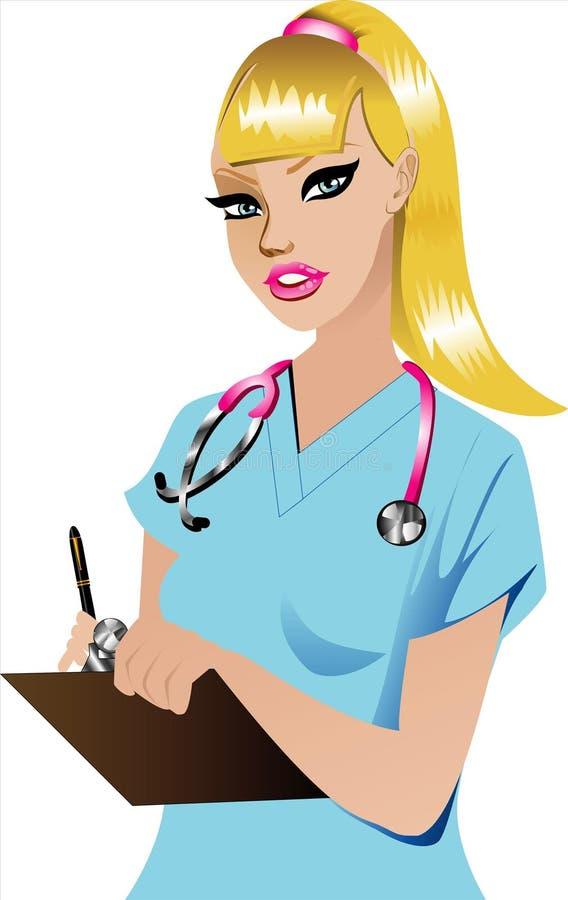 Enfermeira 1 ilustração royalty free