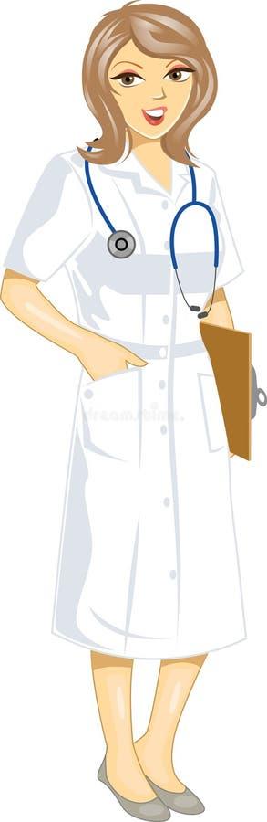 Enfermeira ilustração stock