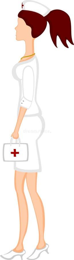Enfermeira ilustração do vetor