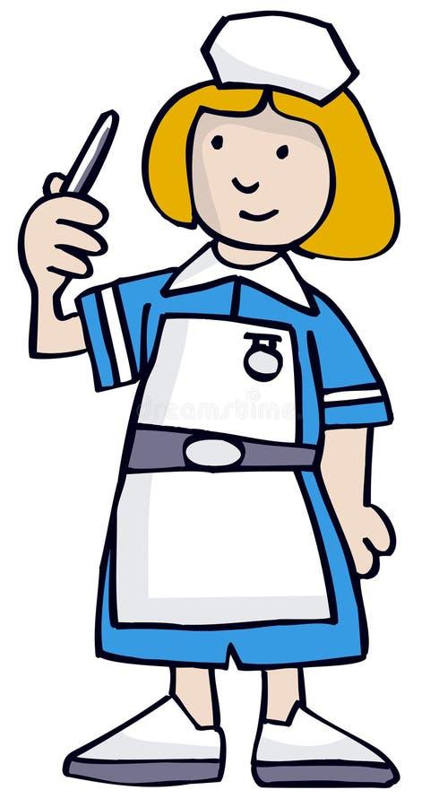 Enfermeira ilustração royalty free