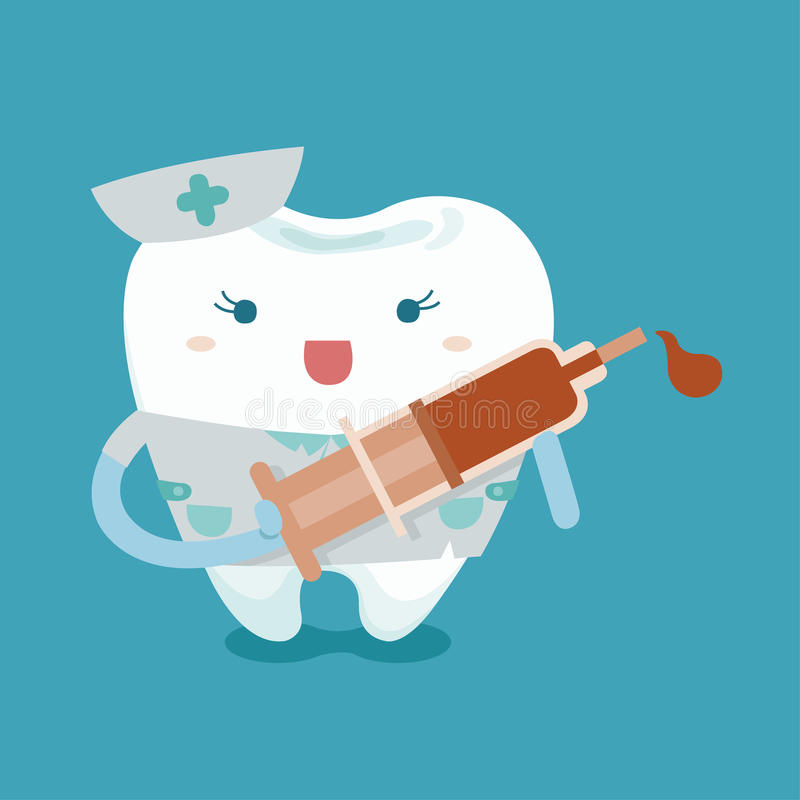 Enfermeira bonita do dente ilustração do vetor