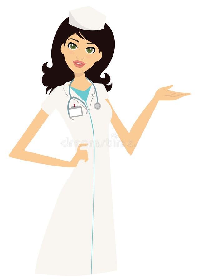 Enfermeira bonito Doctor ilustração royalty free
