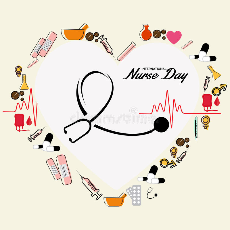 Enfermeira Day ilustração royalty free