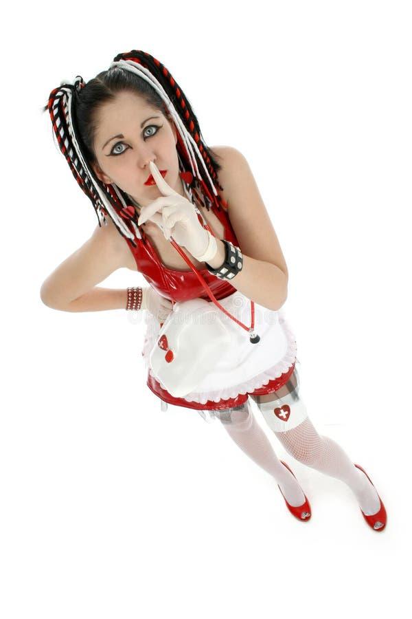 Enfermeira de Goth foto de stock