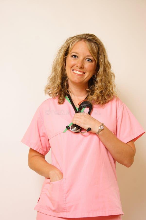 Enfermeira de sorriso foto de stock